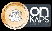 Güte Siegel Qualität onkaips Zertifikat Webdesign Premium Leistung Service KAIPS MARKETING 200px