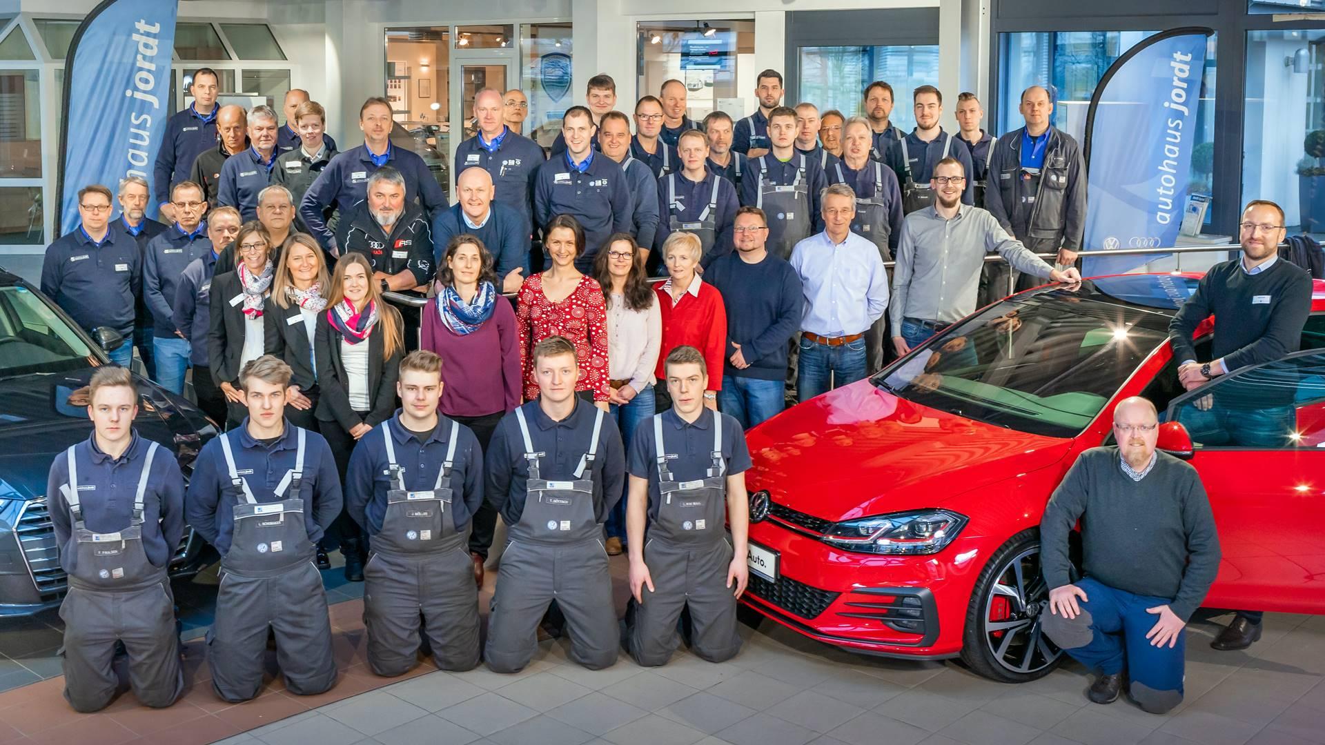 VW Volkswagen Schleswig 24837 Team Mitarbeiter Autohaus Jordt Gesamt
